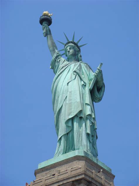 Amerika Newyork Times Liberty Patung Liberty United State 무료 이미지 맨해튼 뉴욕시 기념물 동상 자유의 여신상 미국 경계표 푸른 삽화 조각