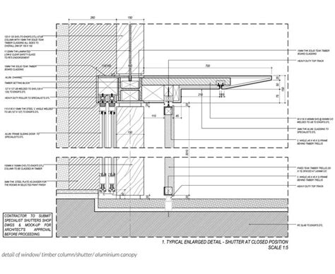 awning construction details dtl of aluminium canopy bedmar shi drawn by me
