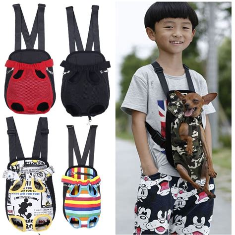 puppy holder pet carrier front chest backpack five holes backpack outdoor carrier tote bag