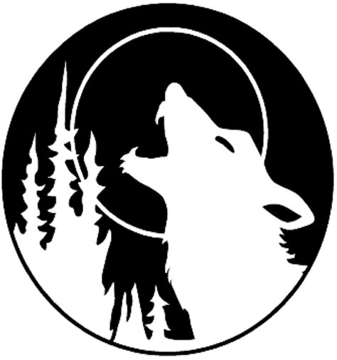 template simple wolf and howling wolf outline clipart best
