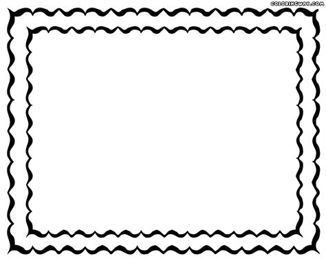 color frame picture frame coloring page coloring home