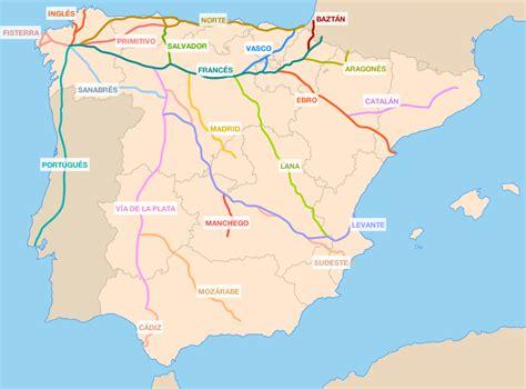 la camino de santiago mapa de las rutas camino de santiago