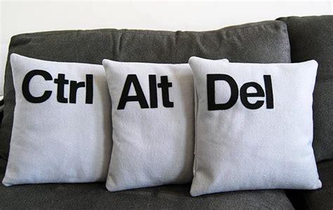 Alt Delete Pillows by Ctrl Alt Pillow Set Gadgetsin
