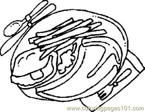 steak coloring sheet coloring pages