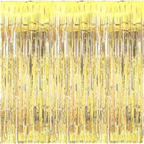 mylar fringe curtain gold metallic fringed mylar door curtain 3 w x 8 l