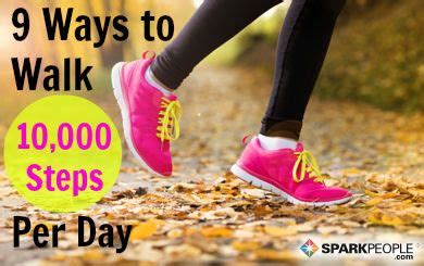 ten thousand steps challenge how to walk 10 000 steps each day sparkpeople