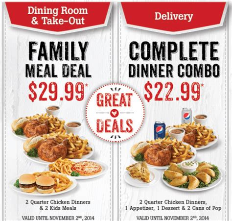 dinner deals swiss chalet canada labour day coupons family meal deal