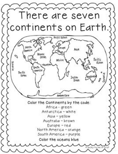 2nd Grade Continents And Oceans Worksheets by Continents Explore The 7 Continents Study World And A