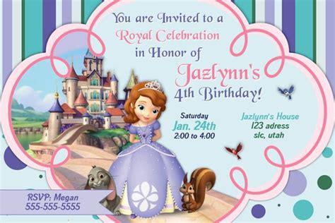Princess Sofia Invitation Card Template by Free Printable Princess Sofia Invitations