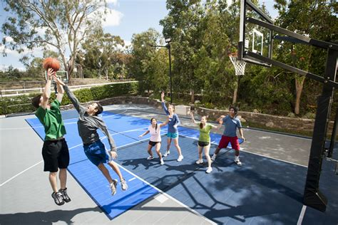 backyard tennis game sport court construction san antonio outdoor basketball