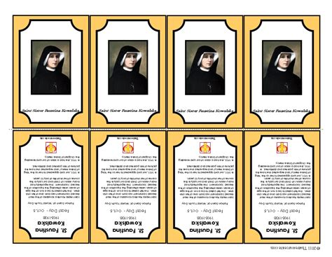printable holy cards that resource site april 2011