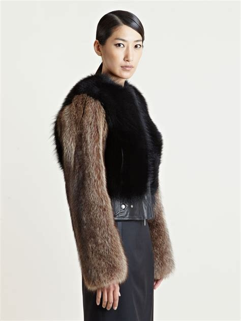 real or how do you wear your fur givenchy s raccoon fur jacket