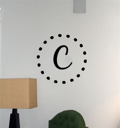 monogram wall stickers dot monogram wall decals trading phrases