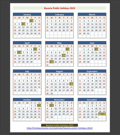 german bank holidays 2015 bavaria holidays 2015 holidays tracker