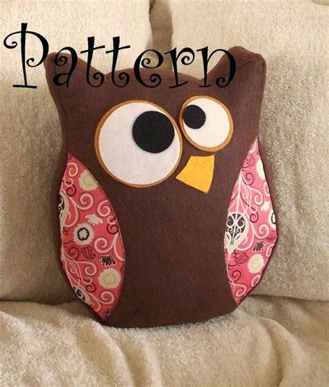 printable owl pillow pattern owl plush pdf hooter the owl pillow pdf tutorial and