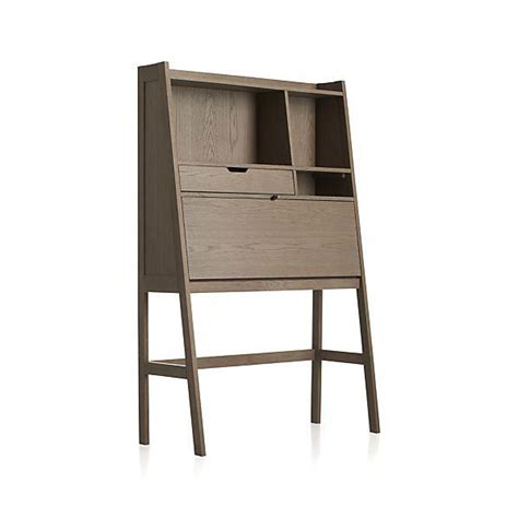 crate and barrel desk clarke grey secretary