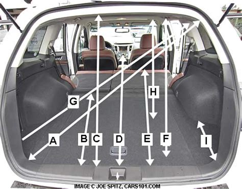 subaru outback trunk dimensions subaru 2013 outback research webpage specs options