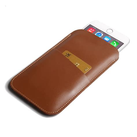 iphone 8 plus leather card holder brown pdair pouch sleeve