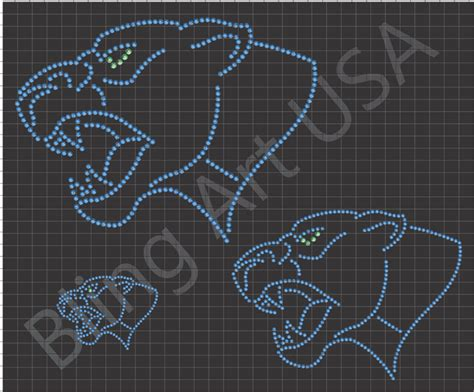 rhinestone panther downloads template bling animals fierce