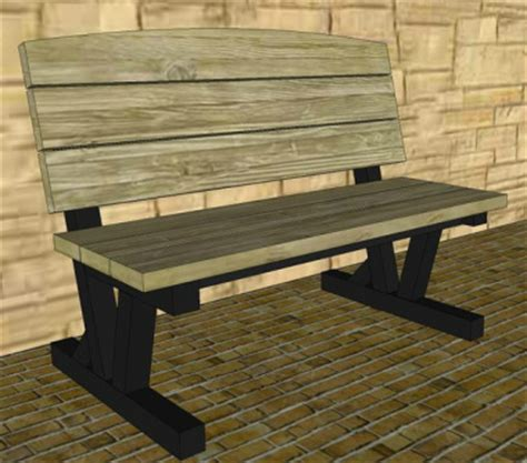 boy scout bench plans metal park bench plans