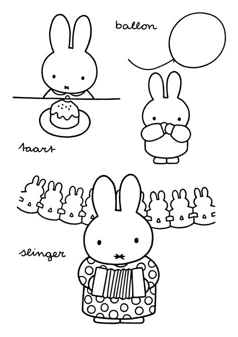 Coloring Page Miffy Coloring Pages 2 Miffy Coloring Pages