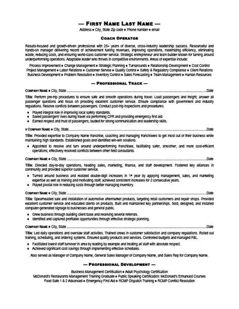 Premium Resume Templates by Coach Operator Resume Template Premium Resume Sles Exle