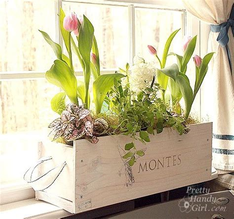 Wine Box Planter Diy by 15 Diy Home Improvement Projects Using Wood