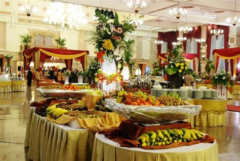 desain meja catering makanan lezat kunci resepsi pernikahan sukses arriba design