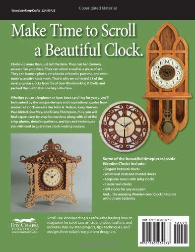 big book of scroll saw woodworking wooden clocks 31 favorite projects patterns scroll saw