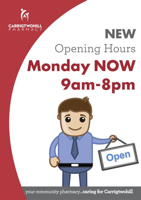 stop and shop new years day hours change in monday opening times for carrigtwohill pharmacy