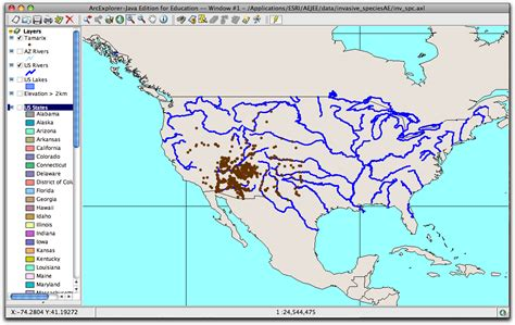 united states map with state names and rivers using aejee to analyze and predict invasions