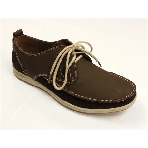 quay brown nubuck moccasin lace shoe