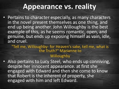 themes of macbeth appearance vs reality themes in the sense and sensibility