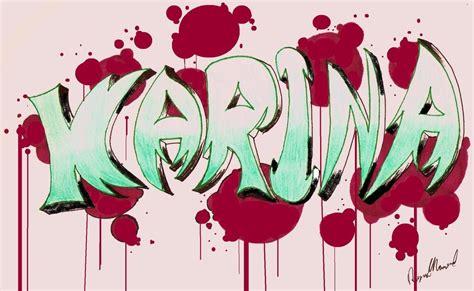 Imagenes Que Digan Karina | graffitis que digan karina imagui