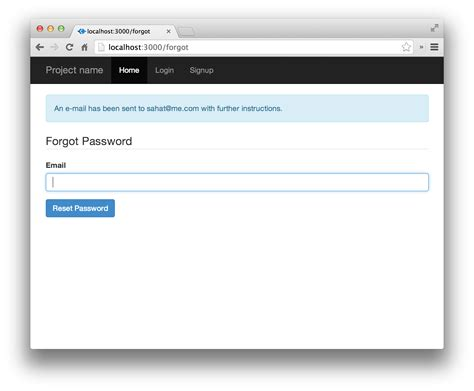 gmail reset token how to implement password reset in node js