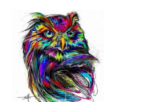 abstract owl wallpaper rainbow owl fantasy abstract background wallpapers on