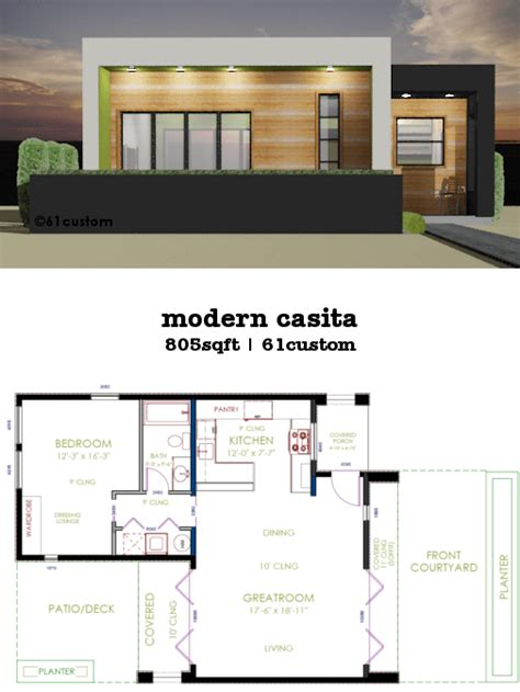 casita plan small modern house plan custom