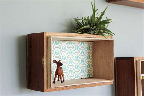 wood box shelves decor in a box awesome keeping it simple rustic