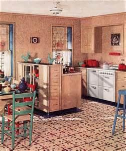 1930 kitchen 1930s kitchen in a linoleum ad 1930 interiors photos