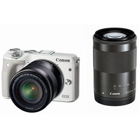 Canon Eos M3 Malaysia Canon Eos M3 Mirrorless Dual Lens Kit With Ef M 18 55mm F 3 5 5 6 Is Stm And Ef M 55