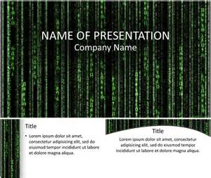 Template Code by Matrix Code Powerpoint Template Templateswise