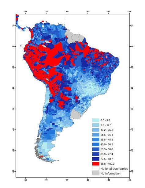 population map of south america guide to estimating child poverty