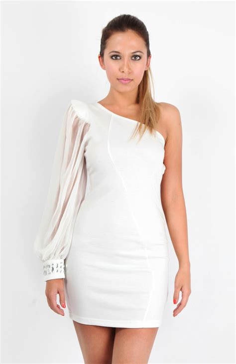 white cocktail dresses one shoulder white cocktail dress searching