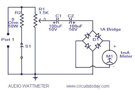power measurement integrated circuit gt circuits gt audio wattmeter or audio power level meter circuit with diagram l36998 next gr