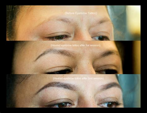 tattooed eyebrows healing process portland cosmetic portland wedding makeup artist