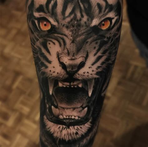 realistic tiger tattoo 100 best tiger tattoos designs ideas with meanings