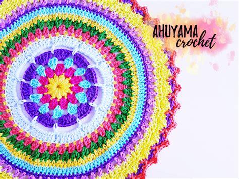 imagenes de mandalas tejidos al crochet mandala grande a crochet ahuyama crochet