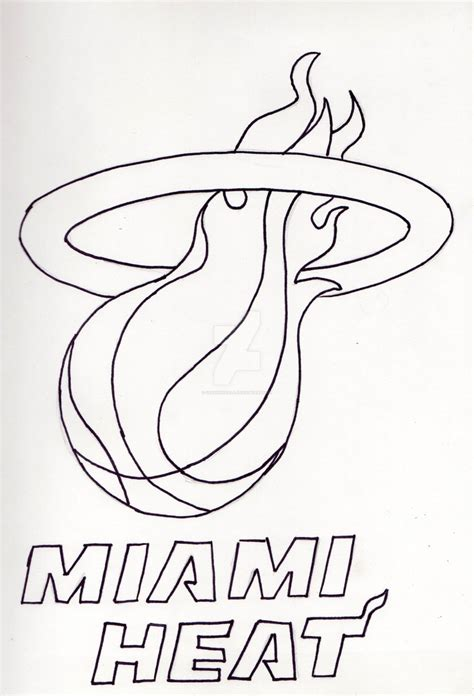 how to draw the heat logo miami heat logo inked by greenxkoala on deviantart