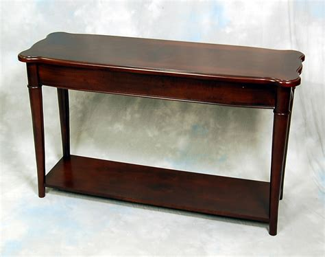 narrow console table hazelnut narrow sofa console table ebay