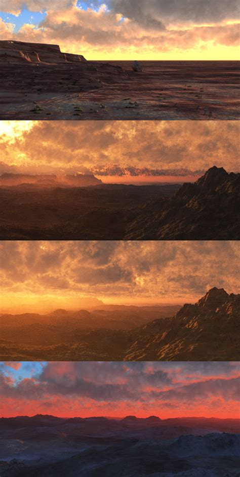 Landscape Digital Tutorial Digital Painting Tutorial Sci Fi Landscape Based On Vue